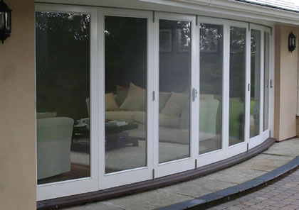 Folding Sliding Doors, installed in a curve, near St Albans in Herts