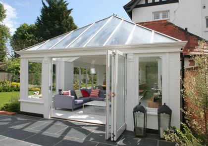 Conservatory with Folding Sliding Doors in Berkshire